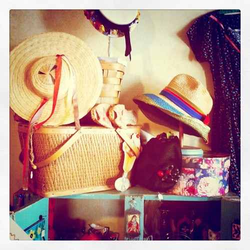 Vintage clothing boutique hats