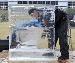 the start (bernardwilliamson) Tags: icesculpture discoverygreen