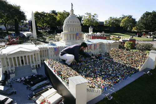 Inauguration 2009, Legoland (AP Photo/Sandy Huffaker)