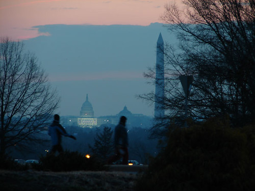 capitol at dawn on inauguration day