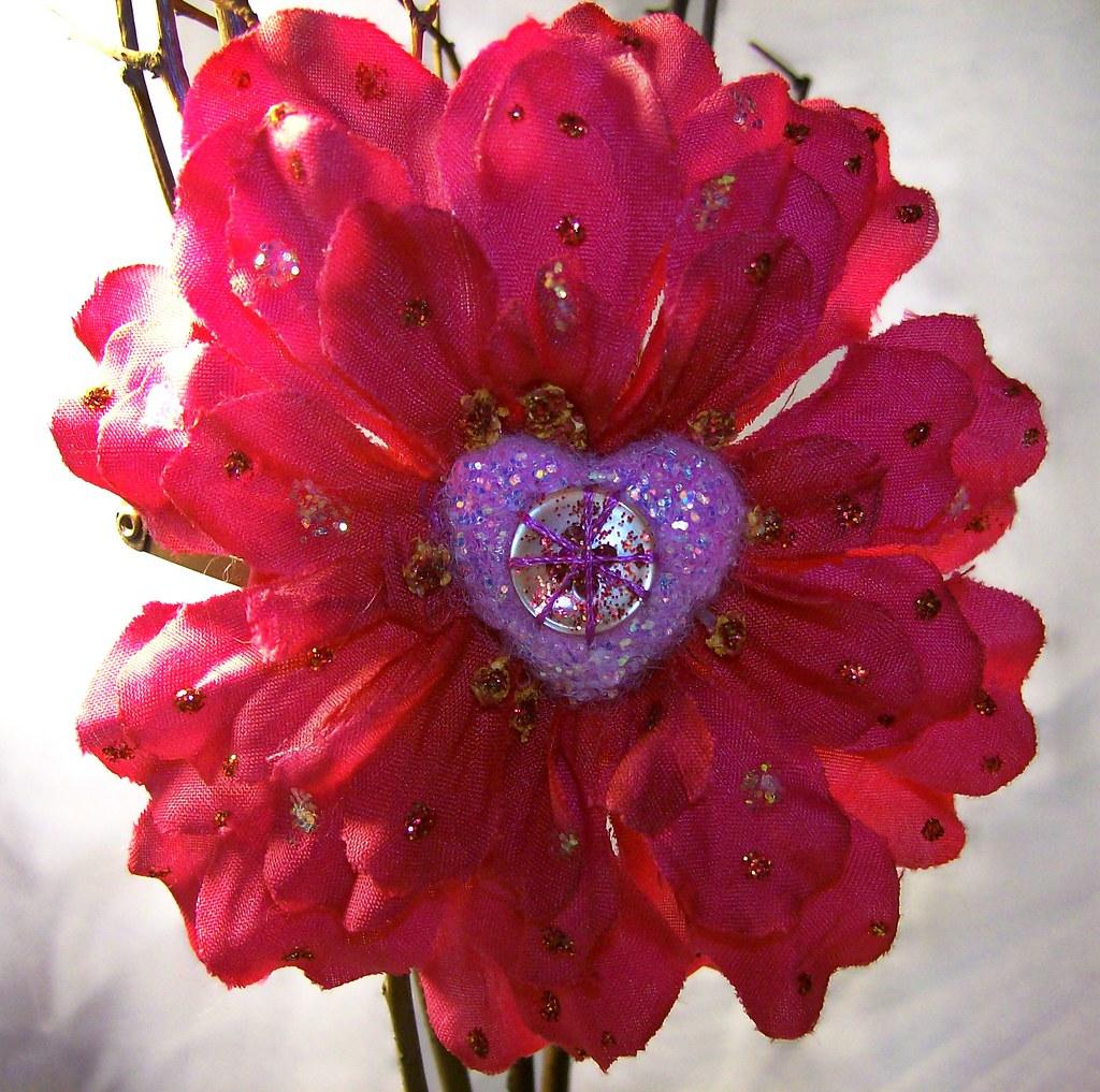 felt flower clip 3