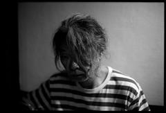 The Look (gullevek) Tags: people blackandwhite japan night dark hair geotagged japanese tokyo shinjuku fuji bokeh portait  goldengai   iso1600   olympusom2n japanesepeople fujineopansuperpresto1600 japanesepersons epsongtx900 geo:lat=35694302 zuikomc50mmf12 geo:lon=13970453