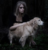 The Call Of The Wild (holly henry) Tags: wild portrait dog london me girl leaves self hair jack book call poem teen excerpt wolfy feral teased
