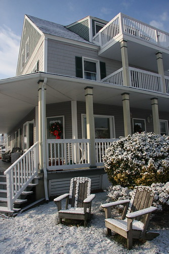 The Bay Head House Blanketed in Snow