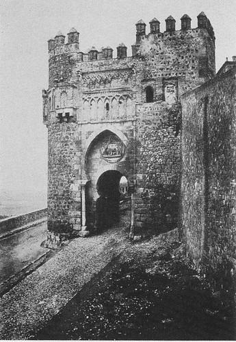Puerta del Sol de Toledo en 1852. Calotipo de Edward King Tenison publicado en el libro Recuerdos de España. Bibliothèque Nationale de France (Paris)