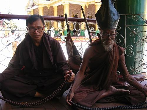 oude en jonge monnik