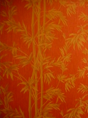 red and gold bamboo hand painted wall paper, good food diner (PinkMoose) Tags: red wallpaper gold chinese bamboo handpainted