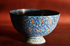 Blue Iranian Bowl (shafik100) Tags: blue red geometric design pattern background bowl round iranian islamic