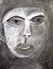 charcoal portraits (maureencrosbie) Tags: light portrait dark drawing charcoal tone childrensart portr cortachy