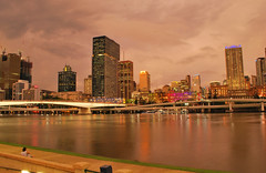 Dusk in the City (Brisbane) (CAUT) Tags: sunset nikon dusk australia brisbane qld queensland d60 caut nikond60 eleanorschonellbridge
