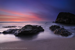 Greyhound Rock, Take 3 - Swanton, California (Jim Patterson Photography) Tags: ocean california ca longexposure sunset sea santacruz seascape beach clouds landscape coast rocks waves pacific shoreline shelf highway1 coastal shore intertidal davenport shelves greyhoundrock swanton santacruzcounty rockyshore landscapephotography digitalblending oceanscape nikond300 tokina1116mm beneathblueseas beneathblueseascom jimpattersonphotography jimpattersonphotographycom goldenblog2010 seatosummitworkshops seatosummitworkshopscom