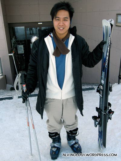 Mark, visibly excited about skiing