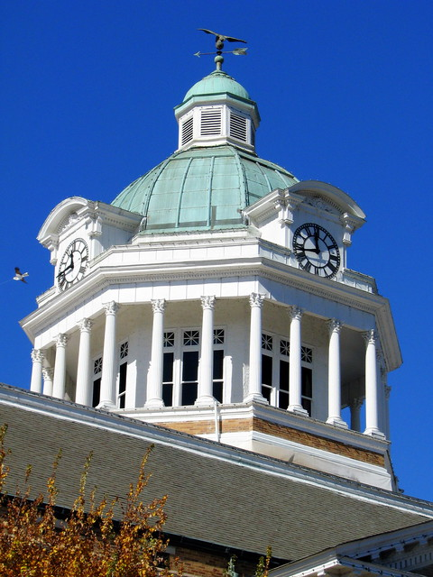 Giles County Courthouse 4 - Cupola closeup