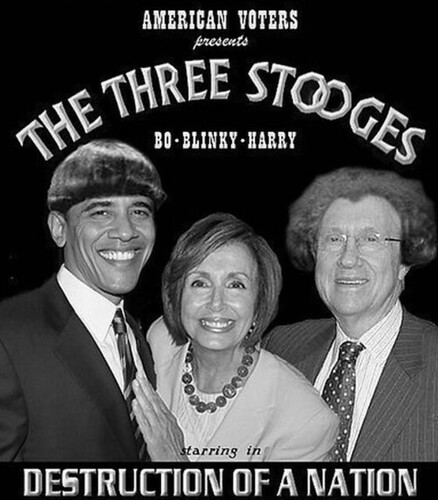 Barack Obama Nancy Pelosi Harry Reid -- Three Stooges