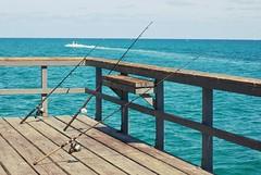 (taylla) Tags: ocean wood blue beach three pier boat fishing horizon pole commercial lbs