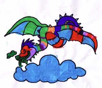 Un drac multicolor per Sant Jordi...