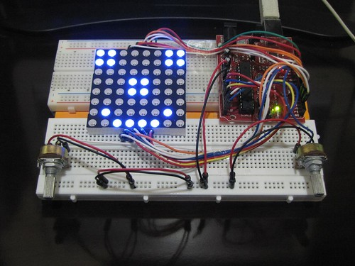 8x8 Led Matrix. ATmega 168. Arduino