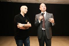 Il Presidente della Fly, Christian Mosca, con il Sindaco Guido castelli
