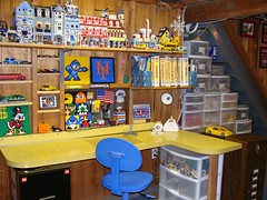 LEGO Area July 11, 2009 (notenoughbricks) Tags: lego desk collection sorting legoworkarea