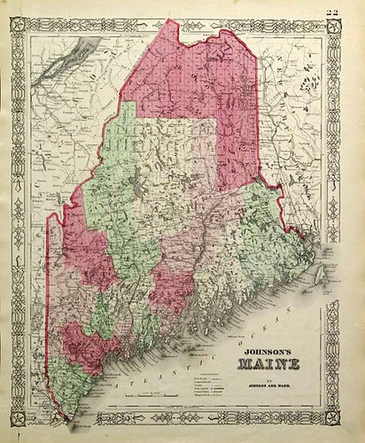 Old Maine Map.Road Trip To Maine