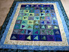 blue quilt (Carpe Feline) Tags: blue cat quilts multicolored godiva catquilt carpefeline quilttester melonquilt