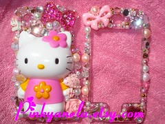 Deco Hello Kitty iPhone Case for SaLe~ (Pinky Anela) Tags: japan japanese tokyo hellokitty cellphone sanrio kawaii deco iphone pinkyanela