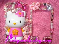 ★Deco Hello Kitty iPhone Case for SaLe~★ (Pinky Anela) Tags: japan japanese tokyo hellokitty cellphone sanrio kawaii deco iphone pinkyanela