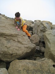 Bouldering to the Beach