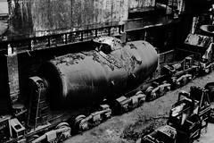 ...industrial lo-fi... (Radek Bednak) Tags: white black iron raw industrial factory post grain lofi gimp processing inversion furnace heavy blast ostrava invert desaturate vtkov