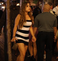 Black and white striped dress (San Diego Shooter) Tags: sandiego streetphotography downtownsandiego gaslampquarter sandiegopeople sandiegostreetphotography gaslampsandiego gaslamppartiessandiego