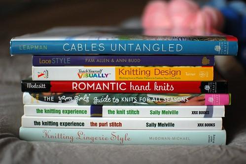 destash: knitting books