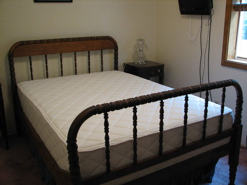custom memory foam bed for antique bed frame