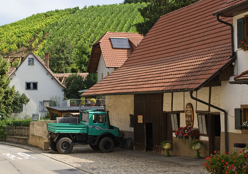 Unimog by a wine producer house