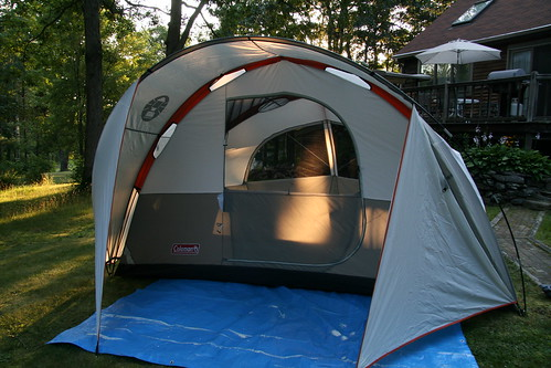 Tent in the front yard