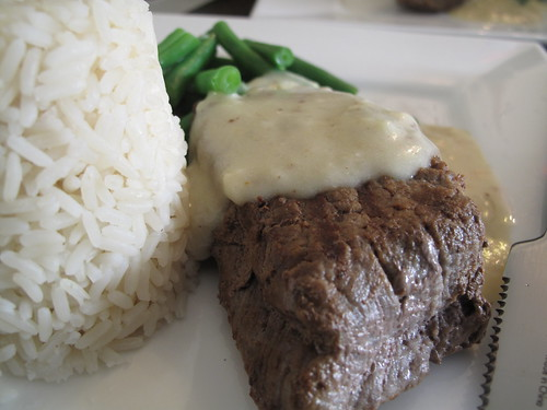Mustard sauce with steak