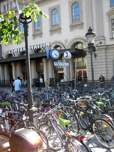 Stockholm Bike Parking at Central Station