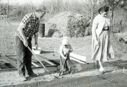 3 Generations of Gardeners - March 1954