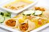 Indian Dosas (Cheri Neufeld) Tags: beans coconut indian curry garbanzo dosas