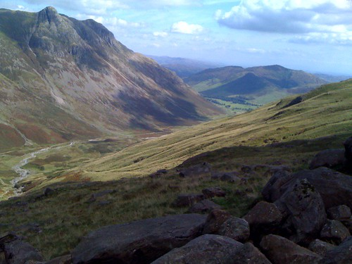 Looking down Langdale from Rossett Ghyll