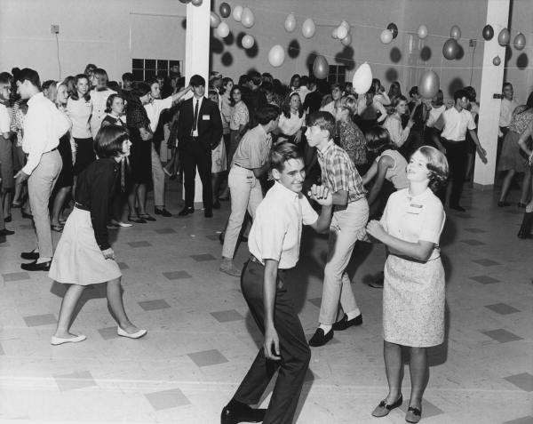 View of a Pine Crest School  dance party: Fort Lauderdale, Florida