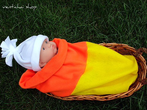 Candy Corn Baby Bunting Pod Cocoon and Hat Perfect Halloween Costume and Photo Prop