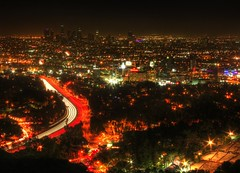 main artery (Andy Kennelly) Tags: california windows cars architecture night buildings lights drive losangeles nightlights view shot nightshot capitolrecords hollywood streams downtownla hollywoodbowl mulholland lightstreams sunsetstrip capitalrecords 101freeway kennelly theknickerbocker ajax8055