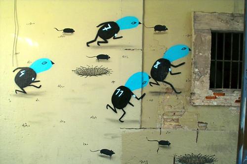 running-birds