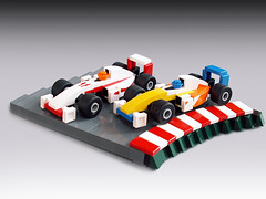 Little race (Jerac) Tags: car lego f1 formula microscale