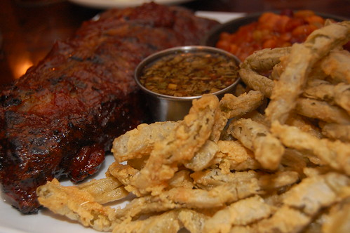 Ribs, Baked Beans and Cactus Fries