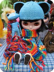 Griffith Park Blythe Meet - Rainbow Scarfy Froggies!