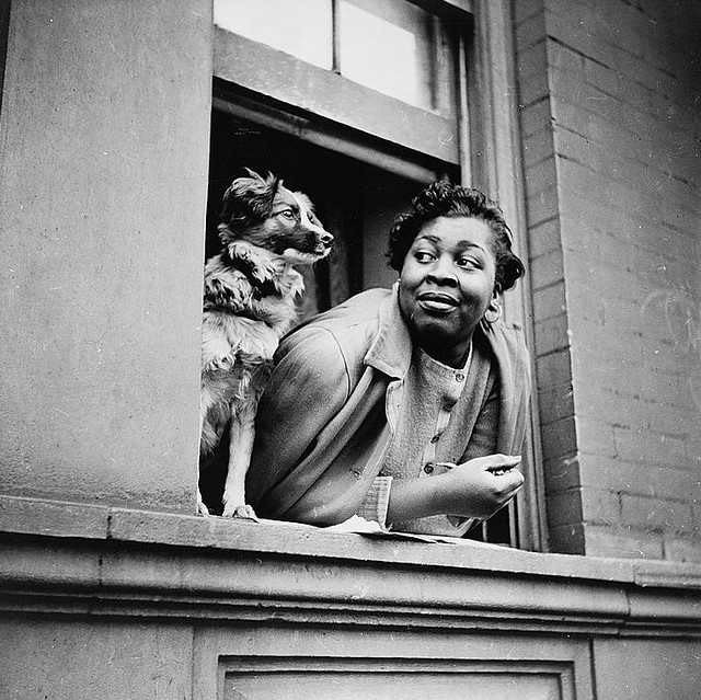 A Woman And Her Dog, Harlem, 1943