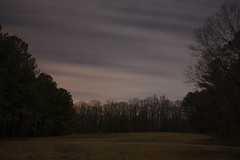 """As the stars wheeled overhead"" (Harris Clayton) Tags: longexposure trees winter light usa cold art field night clouds america dark stars photography photo clayton bare images special northamerica harris inspiring startrail harrisclayton"
