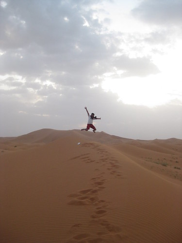 Jumping over the Sahara Desert