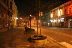 Frýdek-Místek at night